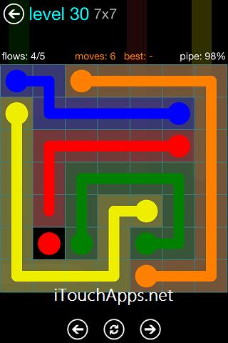 Flow Blue Pack 7 x 7 Level 30 Solution