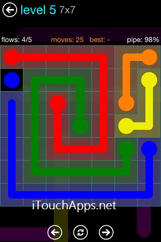 Flow Blue Pack 7 x 7 Level 5 Solution