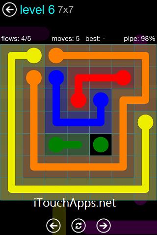 Flow Blue Pack 7 x 7 Level 6 Solution