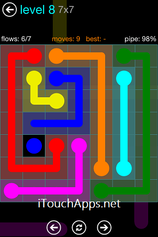 Flow Blue Pack 7 x 7 Level 8 Solution