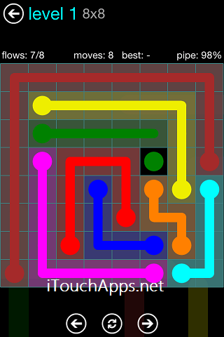 Flow Blue Pack 8 x 8 Level 1 Solution