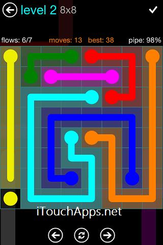 Flow Blue Pack 8 x 8 Level 2 Solution
