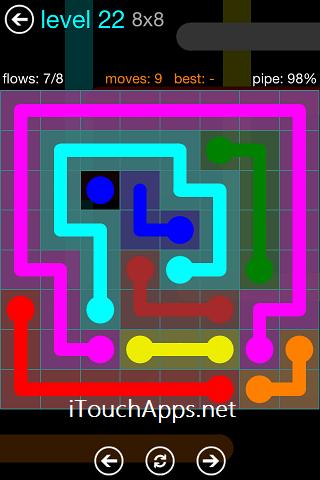 Flow Blue Pack 8 x 8 Level 22 Solution