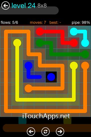 Flow Blue Pack 8 x 8 Level 24 Solution