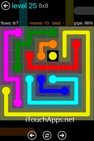 Flow Blue Pack 8 x 8 Level 25 Solution