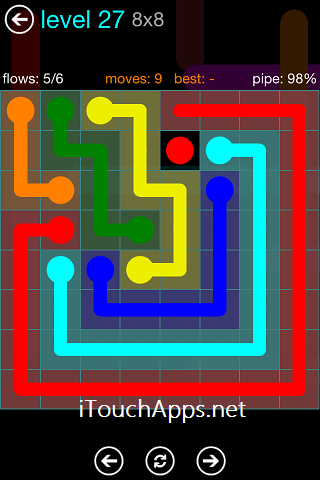 Flow Blue Pack 8 x 8 Level 27 Solution