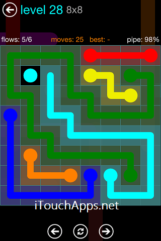 Flow Blue Pack 8 x 8 Level 28 Solution