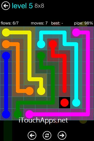 Flow Blue Pack 8 x 8 Level 5 Solution