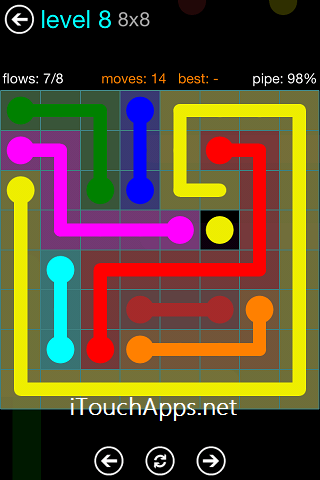 Flow Blue Pack 8 x 8 Level 8 Solution