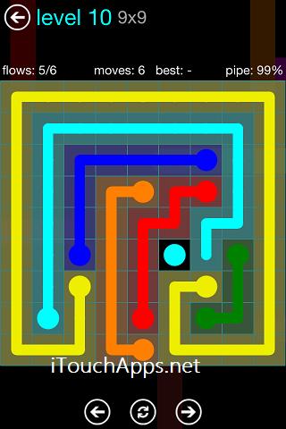 Flow Blue Pack 9 x 9 Level 10 Solution