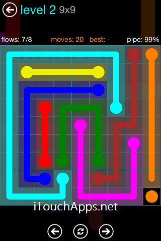 Flow Blue Pack 9 x 9 Level 2 Solution