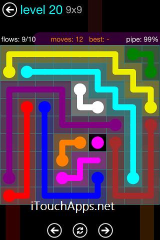Flow Blue Pack 9 x 9 Level 20 Solution