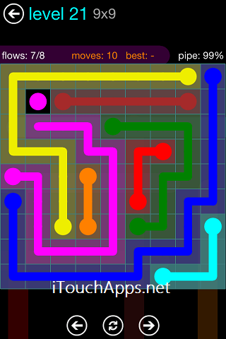 Flow Blue Pack 9 x 9 Level 21 Solution