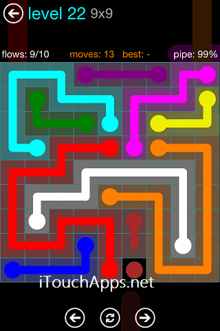 Flow Blue Pack 9 x 9 Level 22 Solution