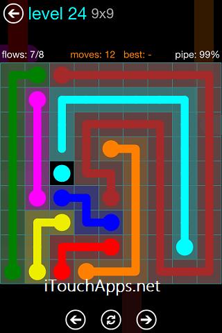 Flow Blue Pack 9 x 9 Level 24 Solution
