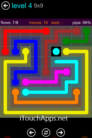 Flow Blue Pack 9 x 9 Level 4 Solution