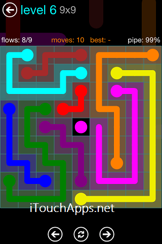 Flow Blue Pack 9 x 9 Level 6 Solution