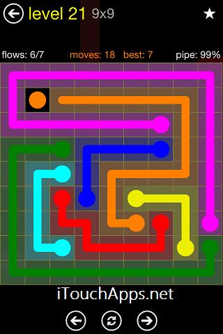 Flow Regular Pack 9 x 9 Level 21 Solution