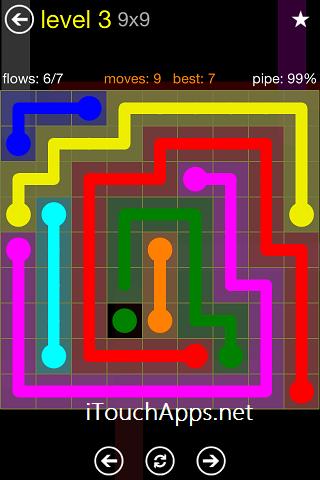 Flow Regular Pack 9 x 9 Level 3 Solution