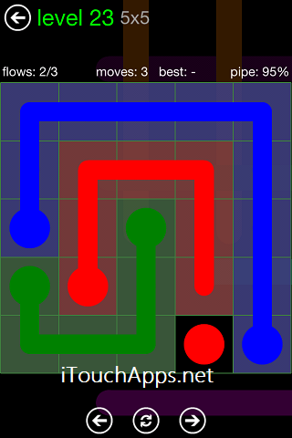Flow Green Pack 5 x 5 Level 23 Solution