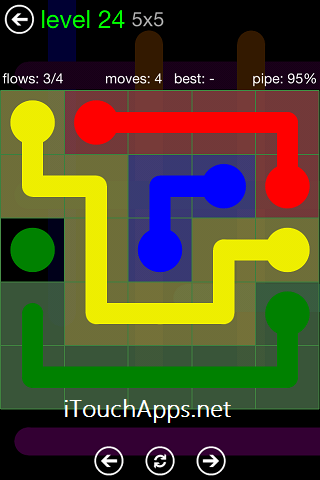 Flow Green Pack 5 x 5 Level 24 Solution