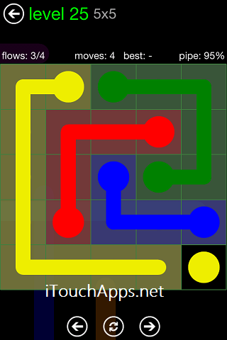 Flow Green Pack 5 x 5 Level 25 Solution