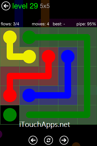 Flow Green Pack 5 x 5 Level 29 Solution