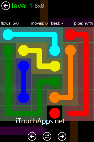 Flow Green Pack 6 x 6 Level 1 Solution