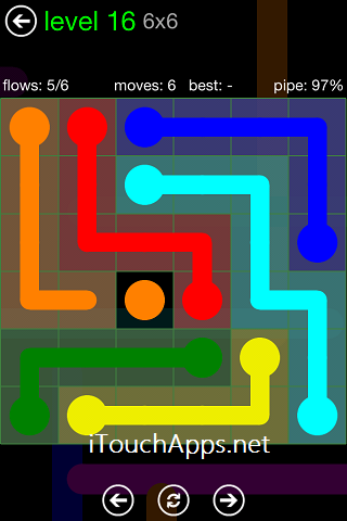 Flow Green Pack 6 x 6 Level 16 Solution