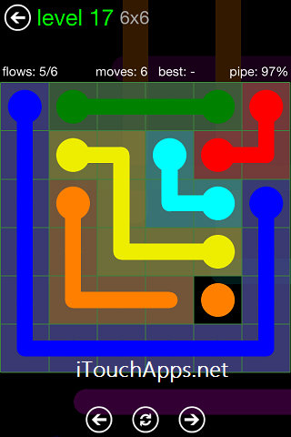 Flow Green Pack 6 x 6 Level 17 Solution