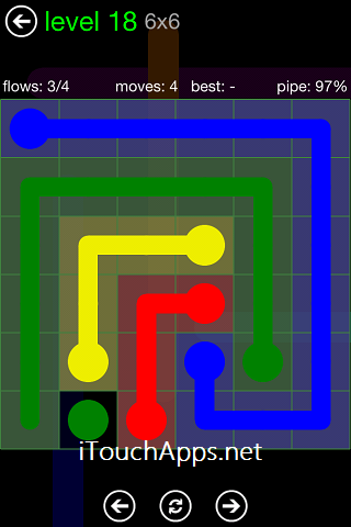 Flow Green Pack 6 x 6 Level 18 Solution