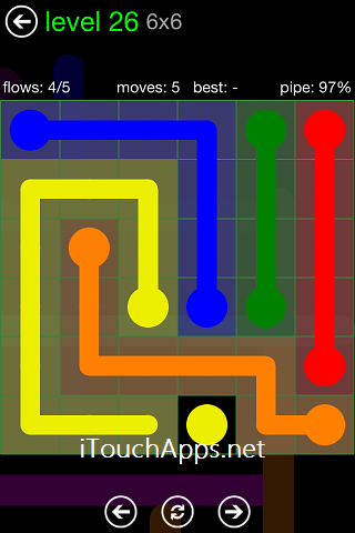 Flow Green Pack 6 x 6 Level 26 Solution