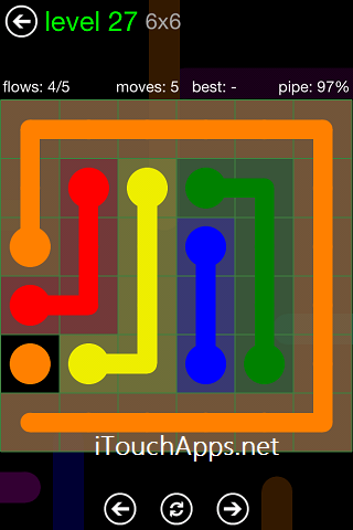 Flow Green Pack 6 x 6 Level 27 Solution