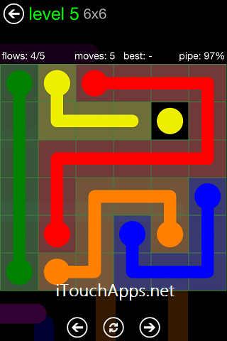 Flow Green Pack 6 x 6 Level 5 Solution