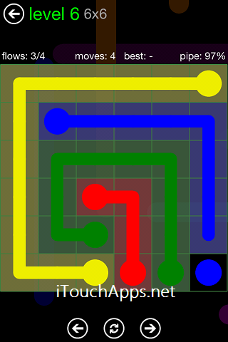 Flow Green Pack 6 x 6 Level 6 Solution