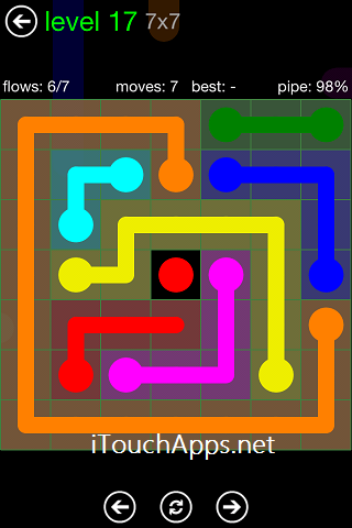 Flow Green Pack 7 x 7 Level 17 Solution