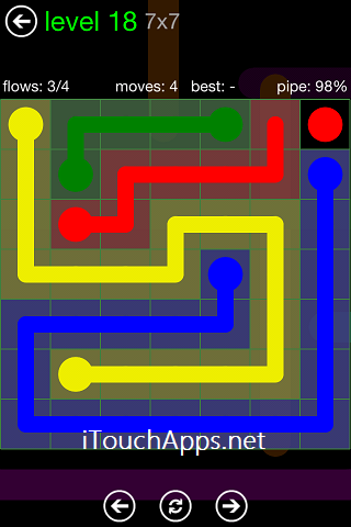 Flow Green Pack 7 x 7 Level 18 Solution