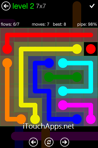 Flow Green Pack 7 x 7 Level 2 Solution