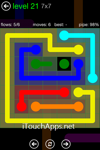 Flow Green Pack 7 x 7 Level 21 Solution