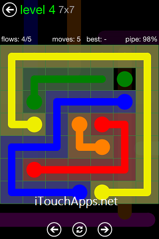 Flow Green Pack 7 x 7 Level 4 Solution