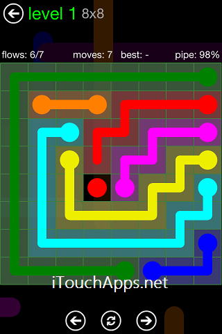 Flow Green Pack 8 x 8 Level 1 Solution