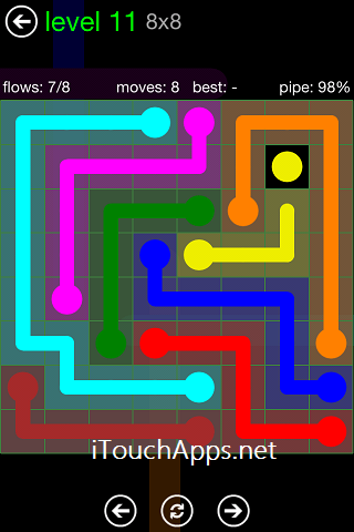 Flow Green Pack 8 x 8 Level 11 Solution