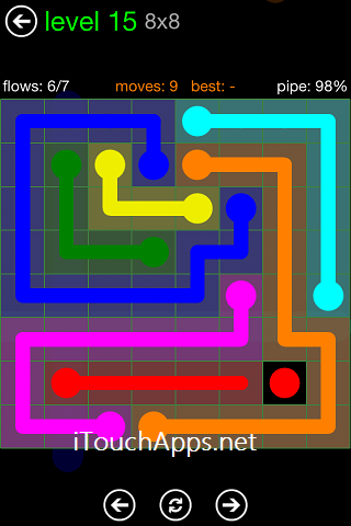 Flow Green Pack 8 x 8 Level 15 Solution