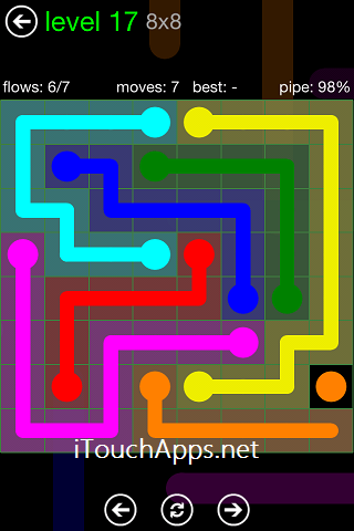 Flow Green Pack 8 x 8 Level 17 Solution