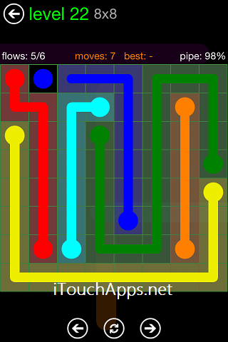 Flow Green Pack 8 x 8 Level 22 Solution