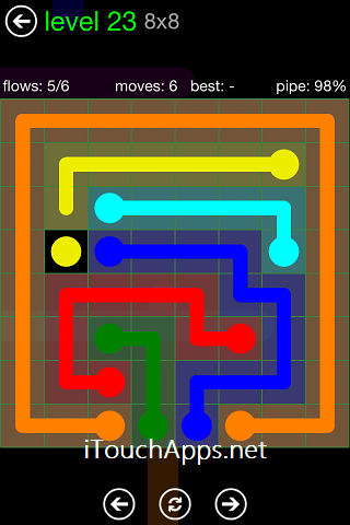 Flow Green Pack 8 x 8 Level 23 Solution