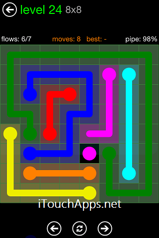 Flow Green Pack 8 x 8 Level 24 Solution