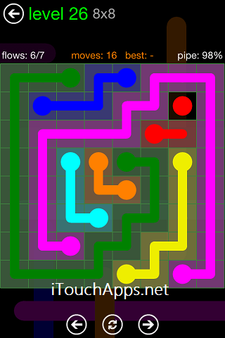 Flow Green Pack 8 x 8 Level 26 Solution