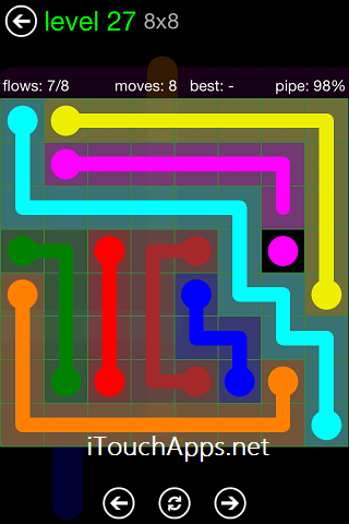 Flow Green Pack 8 x 8 Level 27 Solution