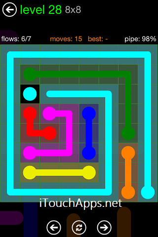 Flow Green Pack 8 x 8 Level 28 Solution